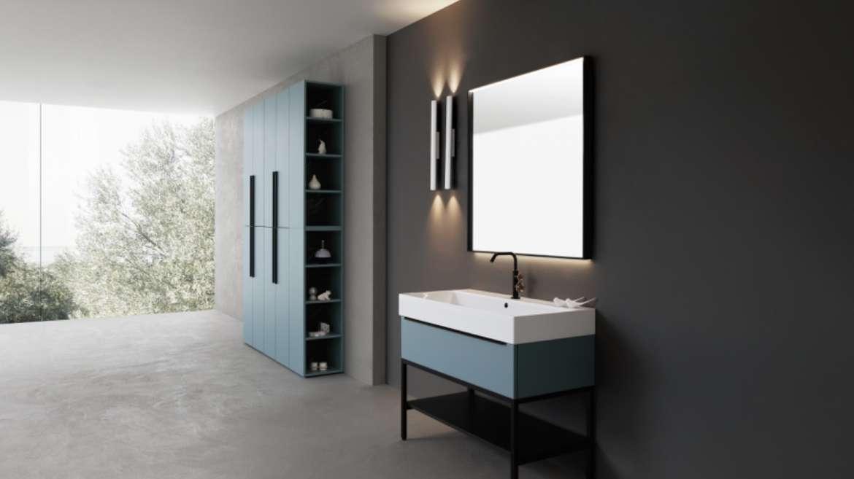 COLLEZIONE K-HOUSE composizioni tutte diverse, funzionalità estetiche che creano armonia nell' ambiente bagno.