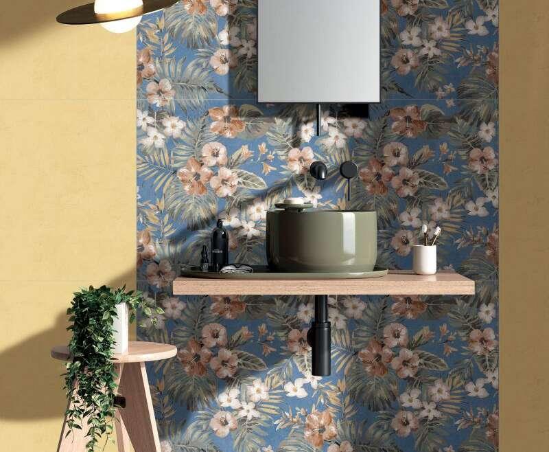 Le grandi lastre Wide&Style by ABK diventano Mini nel formato 60×120, facile da gestire anche negli spazi più piccoli, ma capace di apparire in parete come una carta da parati .E' sufficiente una parete decorata per dare importanza all' intera stanza.